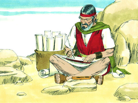 Moses then wrote out the laws he had given the people and gave them to the priests to look after. He told them to read them to everyone every seven years when they gathered at the festival of tabernacles – Slide 6