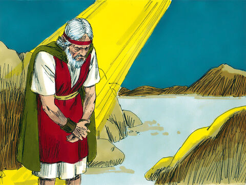That same day the Lord told Moses, 'Go to Mount Nebo in the land of Moab across from Jericho. Look out across the land of Promised Land of Canaan. – Slide 12