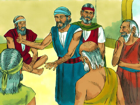 Exodus 4 v 29-31 When Moses and Aaron arrived in Egypt they gathered together the leaders (elders) of the Hebrews (Israelites) to tell them the news that God was going to deliver them and lead them to the Promised Land. The leaders and the people bowed down to worship God. – Slide 1