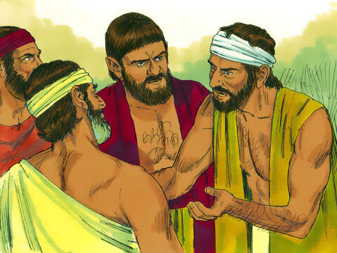 The Hebrew leaders complained to Moses and Aaron. 'May God judge you. You have made Pharaoh hate us and our lives are in danger.' – Slide 6