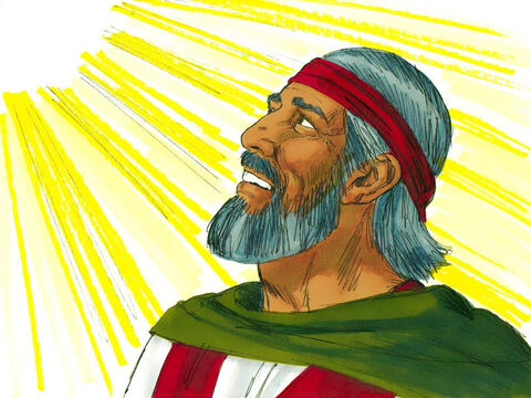 God told Moses and Aaron to visit Pharaoh again. 'If the Hebrews won't listen to me, why should Pharaoh?' replied Moses. 'Especially as I can't speak very well.' – Slide 10