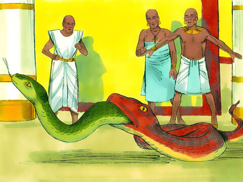 But Aaron's snake swallowed up their snakes. – Slide 13