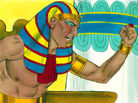 Despite seeing the great power of God Pharaoh refused to let the Hebrew slaves go - just as God had said he would. It was now time for God to show his power by bringing plagues on the Egyptians. – Slide 14