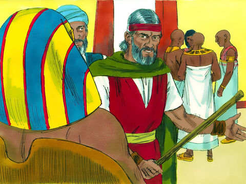 Exodus 10 God had already sent seven plagues on the Egyptians. Moses had another warning for Pharaoh. 'If you refuse to let the God's people go He will bring a plague of locusts on the land - something your parents and ancestors have never seen.' Pharaoh's officials advised him to let God's people go. – Slide 1
