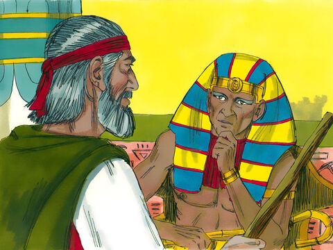 'I have sinned against God,' Pharaoh told Moses. 'Forgive me once more and pray to God to take this deadly plague away.' – Slide 4
