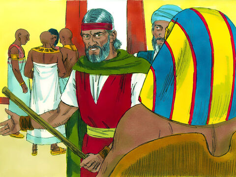 'Just as you say,' replied Moses. 'I won't appear before you again. But God has one more plague to send. About midnight the firstborn son of every family and animal will die and there will be weeping and wailing everywhere - except among God's people.' Exodus 11. – Slide 11