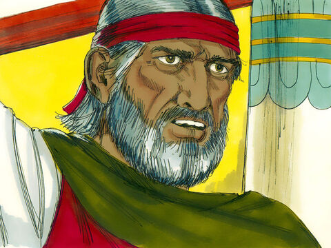 Moses was red with anger. 'Then your officials will come and bow before me and tell us to leave. After that I shall leave.' Moses then turned and walked out of the palace. – Slide 12