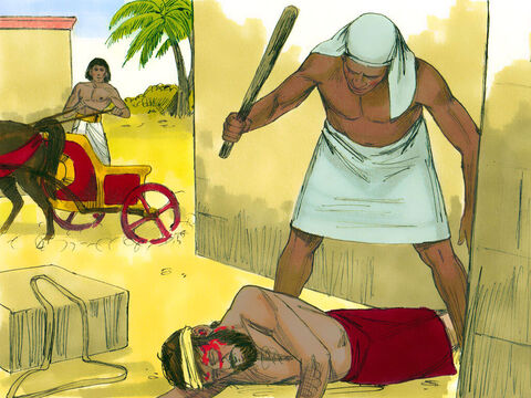 Exodus 2 v 13-14 When he saw one of the Hebrews being badly treated by an Egyptian he looked around to check no one was watching ... – Slide 3