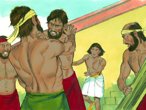 The next day he saw two Hebrews fighting and went across to stop them. 'Why are you hitting a fellow Hebrew?' he asked. – Slide 5