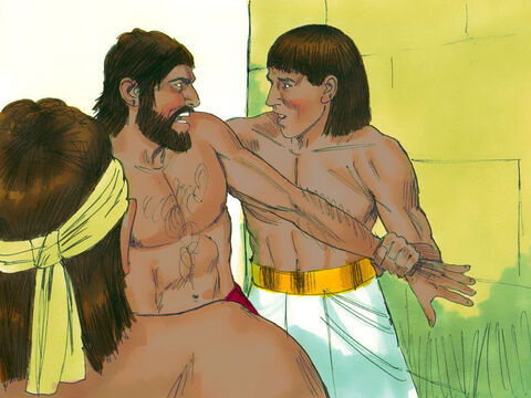 'Who made you ruler over us?' came the reply. 'Are you going to kill us like you killed the Egyptian yesterday?' Moses was afraid. People knew he had murdered an Egyptian. – Slide 6
