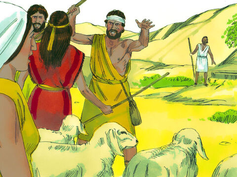 Exodus 2 v 17-20 But some shepherds arrived and pushed the woman away so they could get water for their flocks first. – Slide 9