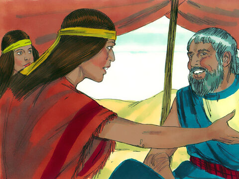 When the girls returned to their father, Jethro (Reuel), he asked why they were back so soon. They explained how an Egyptian had helped them. 'Invite him for something to eat,' Jethro told his daughters. – Slide 11