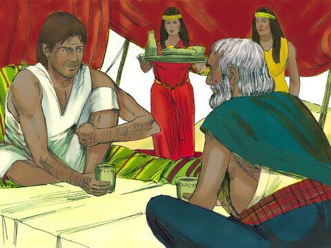 Exodus 2 v 21 Moses was not only invited to the meal but to stay with the family. – Slide 12