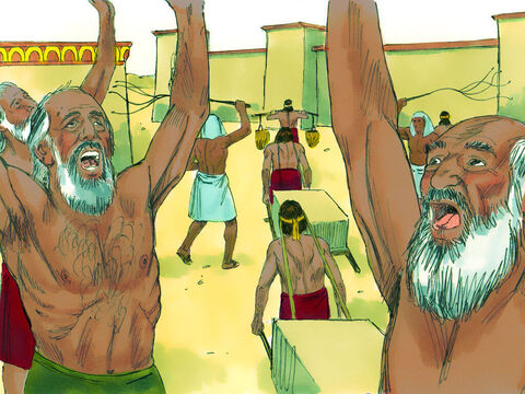 Exodus 2 v 23-24 Some time later Pharaoh died and a new Pharaoh came to rule. The Hebrew slaves cried out to God to rescue them. – Slide 14