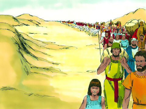 They took with them all their belonging plus the gold, silver and gifts the Egyptians had given them. – Slide 2
