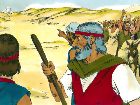'Have you brought us out into the desert to die?' they complained to Moses. 'We'd rather be alive as slaves in Egypt than die in the desert.' – Slide 10