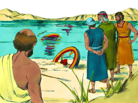 Those safely on the shore knew God had delivered them as He had promised and put their trust in Him. They also realised that Moses was God's servant and the best person to lead them. – Slide 19