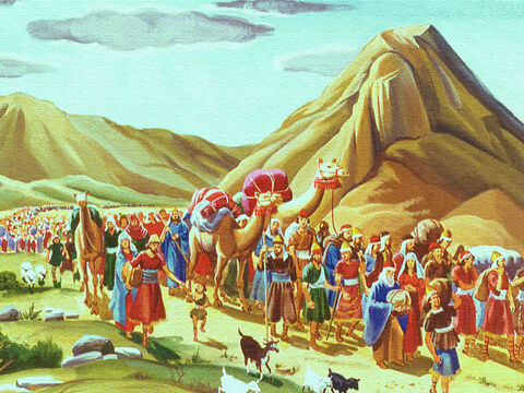 The people of Israel were leaving the land of Egypt. God had set them free from a life of slavery and was leading them to a new land He had promised them. – Slide 1