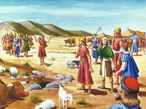 Turning their backs on God caused all kinds of problems for the people of Israel. They could not find water and they and their animals became very thirsty. – Slide 6