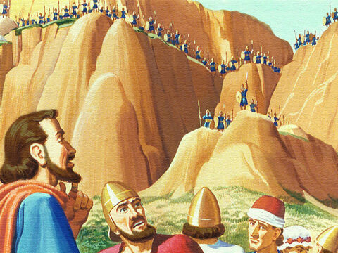 Ahead of the them was the stronghold of the Edomites. Fierce warriors who swooped down on anyone who came near. – Slide 11