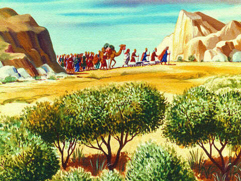 So Moses led the people away from Edom until they came to Mount Horeb. Then they faced an even greater danger. – Slide 15