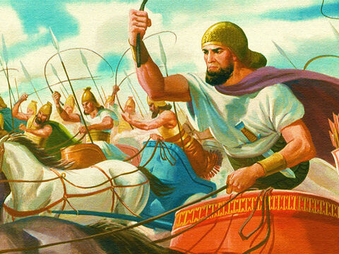 This time the Canaanite army swarmed towards them. – Slide 16