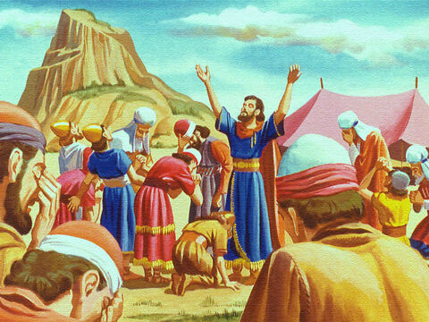 Helpless against such a mighty army the people turned to God in their need. And God was ready to help. – Slide 17