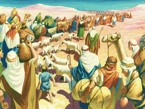 Yet in spite of all God's help and goodness these people would not trust their lives to God's care. As they continued their journey around the Kingdom of Edom they began to grumble. – Slide 19