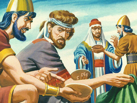 The complained how tired they were of travelling and how fed up they were of searching for water. They even complained about the manna, the daily food God sent them. – Slide 20