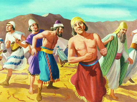 Suddenly fiery serpents swarmed in from the desert among the terrified Israelites. – Slide 22