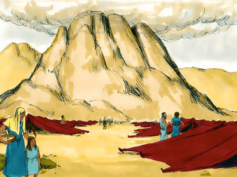 Exodus 19 Three months after crossing the Red Sea the Israelites camped in the desert at the foot of Mount Sinai. – Slide 1