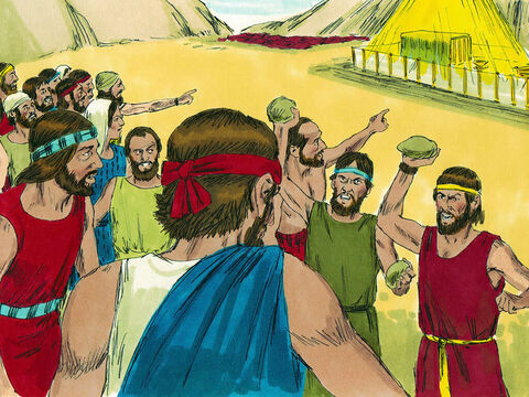 Just as those listening were muttering about stoning Joshua and Caleb, the glory of the Lordappeared at the Tent of Meeting. – Slide 16