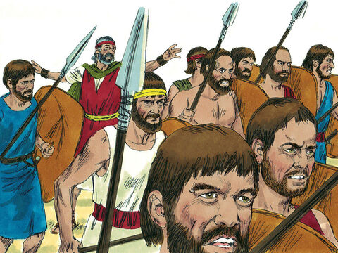 The rebellious people then changed their minds and decided to attack the Amalekites just north of their camp. Moses said, 'Why are you disobeying the Lord's command? This will not succeed!' But they went ahead. – Slide 19