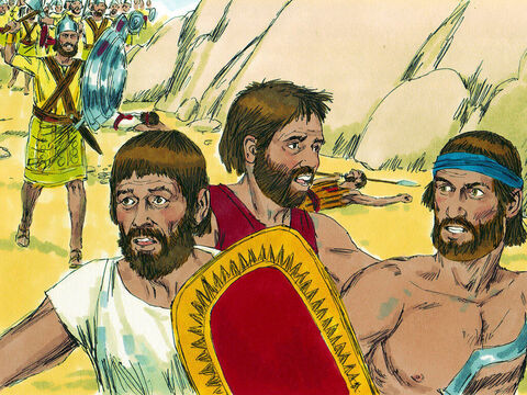 The Amalekites, helped by the Canaanites from the hill country, came down and attacked them and beat them into a swift retreat. – Slide 20