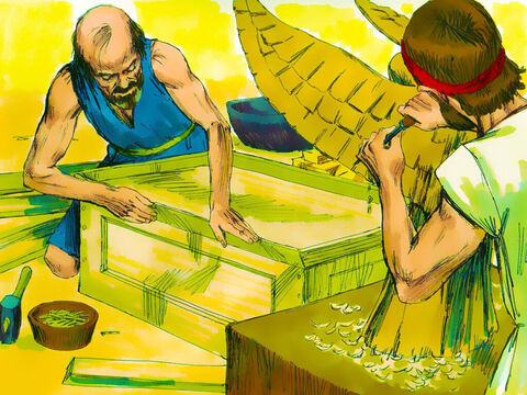 Exodus 35: 30-35 God had told Moses that Bezalel and Oholiab, two fine craftsmen, should be put in charge of the work. They were filled with the Spirit of God to be good in all the skills they needed to design artistically with metals, wood and other materials. – Slide 7