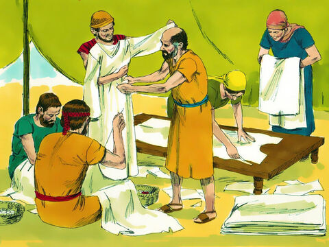 Exodus 36: 1-7 Other skilled workers joined them to make everything that God required. – Slide 8