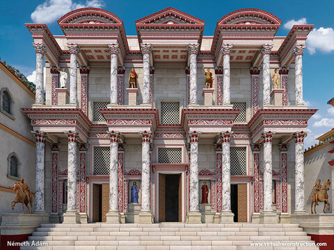 Ephesus was a place of learning and, 60 years after Paul's visit, the library of Celsus was built. It was the third-largest library in the Roman world behind Alexandria and Pergamum. It is thought to have held around twelve thousand scrolls. – Slide 9