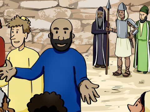 The high priest and his officials, who were Sadducees, were filled with jealousy. They arrested the apostles and put them in jail. – Slide 7