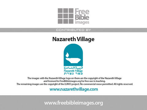 The photos in this parable have been taken at Nazareth Village and used with their kind permission. They retain copyright on their images and do not allow any commercial reuse. – Slide 21