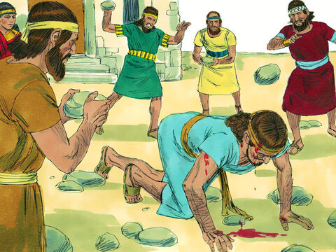 Naboth was taken out of the city and stoned to death. – Slide 8