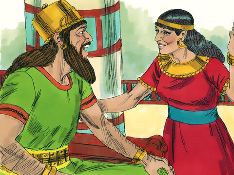 As soon as Jezebel heard that Naboth was dead, she said to Ahab, 'Go and take over the vineyard of Naboth. He is no longer alive.' – Slide 9