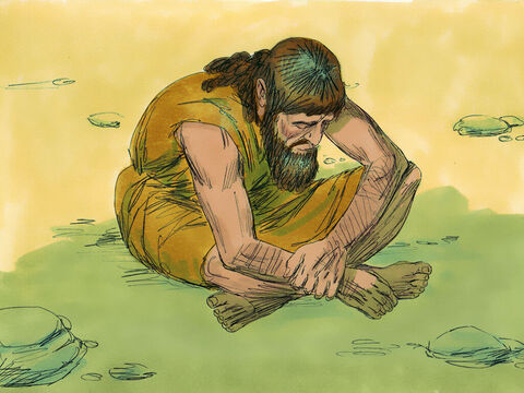 When Ahab heard these words, he tore his clothes, put on sackcloth and fasted. He lay in sackcloth and went around meekly. – Slide 14