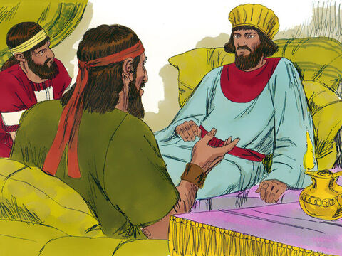 One day Nehemiah was visited by Hanani, one of his brothers, who lived in Jerusalem. Nehemiah asked them about the city and the Jews living there. – Slide 3