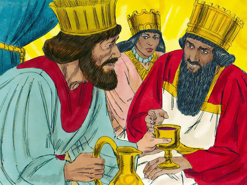 Some time later, Nehemiah was serving wine to the King when the king asked, 'Why do you look so sad?' 'May the king live forever!' replied Nehemiah. 'Why should my face not look sad when Jerusalem lies in ruins, and its gates have been destroyed by fire?' 'What is it you want?' asked the king. – Slide 7