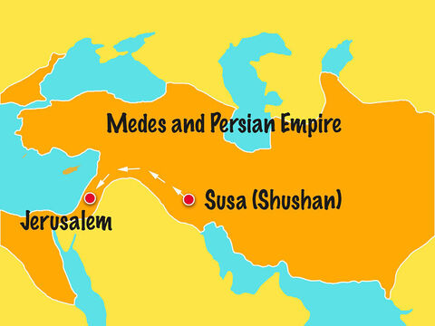 Nehemiah set off on the long journey to Jerusalem. – Slide 9