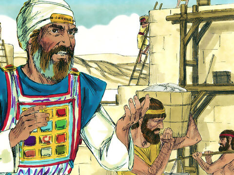 Eliashib the high priest and his fellow priests went to work and rebuilt the Sheep Gate. – Slide 2