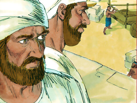 Levites and priests joined in the work. People from the surrounding towns and villages joined in to help. – Slide 3