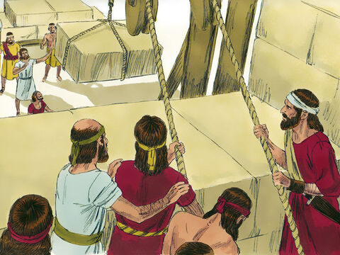 The builders prayed and continued working until the walls were half their height. – Slide 6