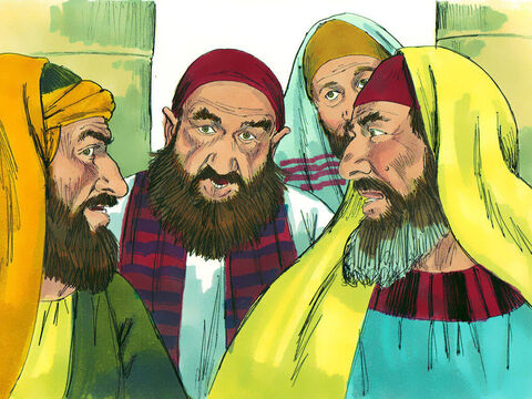Nehemiah was angry and called a meeting. He shamed the rich nobles and officials by saying, 'You are charging your own people interest. Now you are selling your own people.' At first the rich moneylenders kept quiet but then relented. 'We will give it back,' they said. 'And we will not demand anything more from them. We will do as you say.' – Slide 14