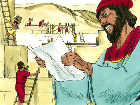 Work continued until all the gaps in the wall had been filled. Only the gates now needed to be built and fitted. Sanballat and Geshem sent Nehemiah a message: 'Meet us in one of the villages on the plain of Ono.' – Slide 16